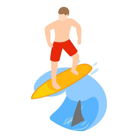 Extreme sport icon. Isometric illustration of extreme sport vector icon for web