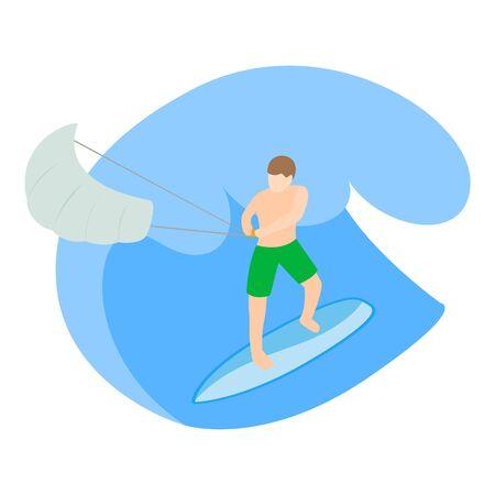 Summer hobby icon, isometric style