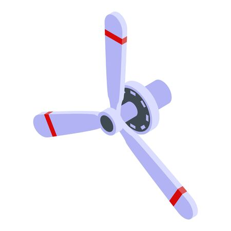 Aircraft repair propeller icon, isometric style