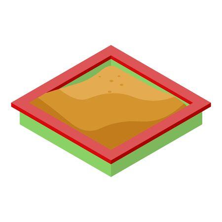 Kid sandbox icon, isometric style Stock Vector - 142322458
