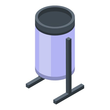 Trash can icon, isometric style  イラスト・ベクター素材