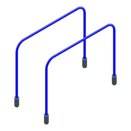 Parallel bars icon, isometric style