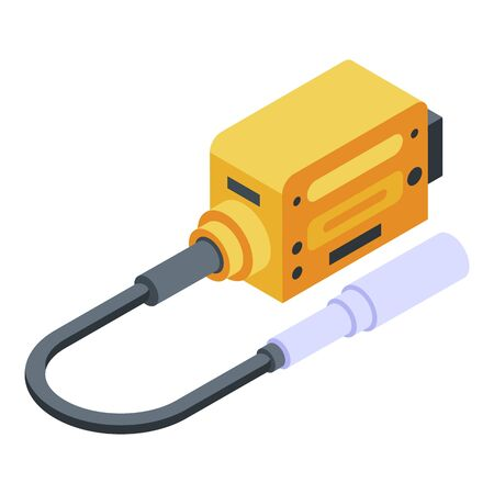 Electric adapter plug icon. Isometric of electric adapter plug vector icon for web design isolated on white background Vectores