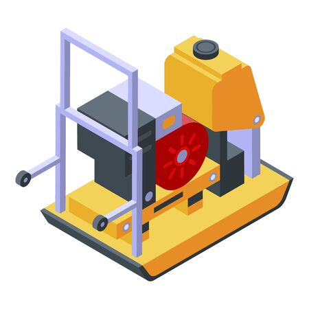 Gasoline generator icon. Isometric of gasoline generator vector icon for web design isolated on white background