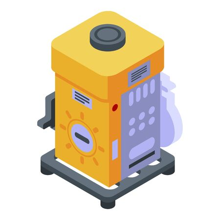 Electric generator icon. Isometric of electric generator vector icon for web design isolated on white background Illustration