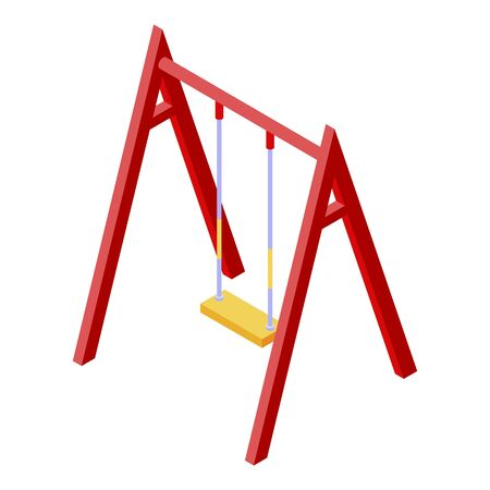 Kid classic swing icon. Isometric of kid classic swing vector icon for web design isolated on white background