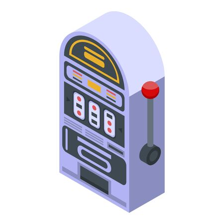 Slot machine icon, isometric style
