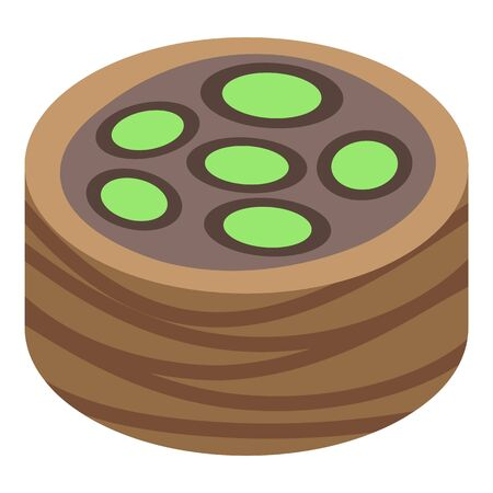 Baked baklava icon. Isometric of baked baklava vector icon for web design isolated on white background