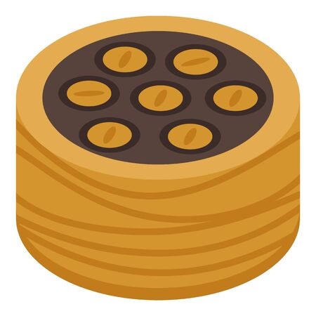 Tasty baklava icon. Isometric of tasty baklava vector icon for web design isolated on white background Illustration