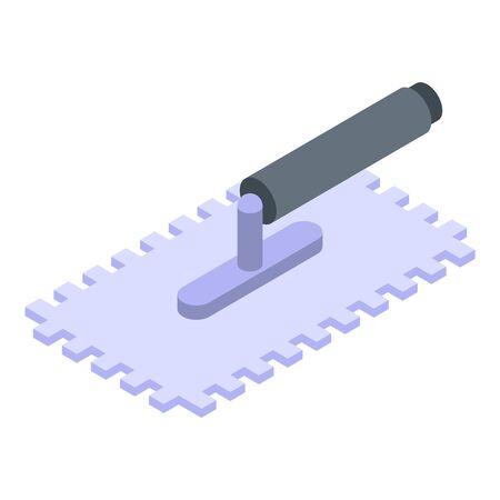 Tiling trowel icon, isometric style
