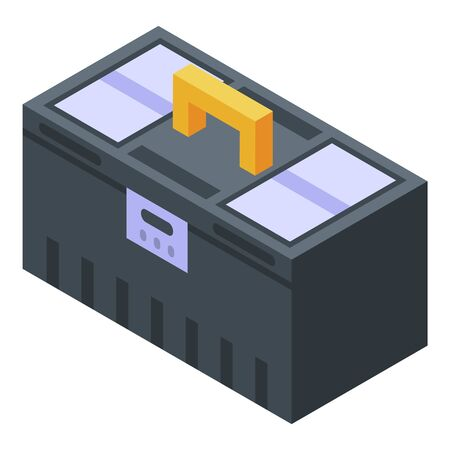Construction toolbox icon. Isometric of construction toolbox vector icon for web design isolated on white background