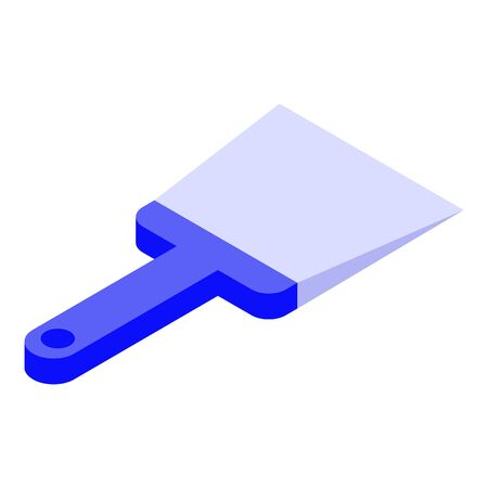 Putty knife icon. Isometric of putty knife vector icon for web design isolated on white background