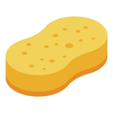 Baby wash sponge icon. Isometric of baby wash sponge vector icon for web design isolated on white background