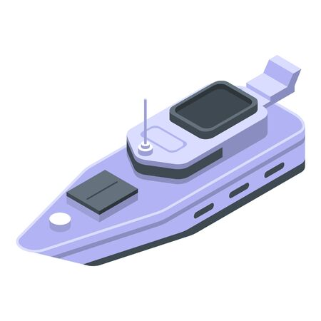 Yacht icon. Isometric of yacht vector icon for web design isolated on white background Vettoriali
