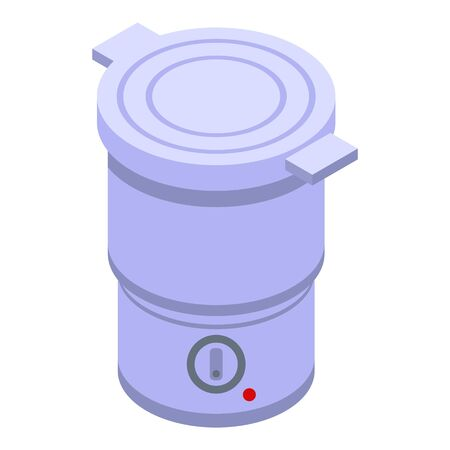 Chinese steamer icon, isometric style