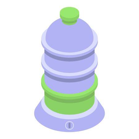 Steamer equipment icon, isometric style  イラスト・ベクター素材