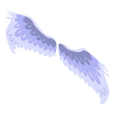 Eagle wings icon. Isometric of eagle wings vector icon for web design isolated on white background Stock Illustratie