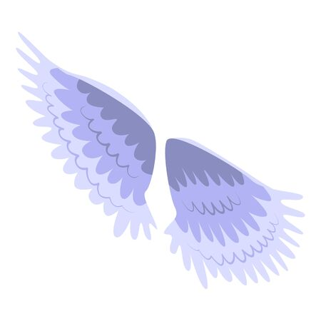 Bird wings icon. Isometric of bird wings vector icon for web design isolated on white background