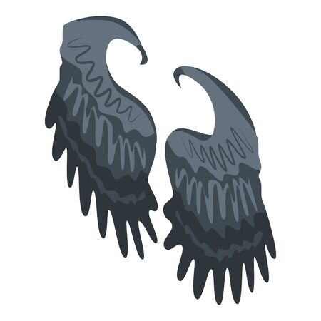 Black wings icon. Isometric of black wings vector icon for web design isolated on white background