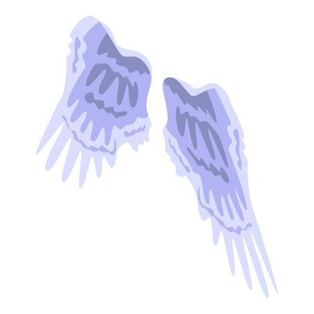 Angel wings icon. Isometric of angel wings vector icon for web design isolated on white background