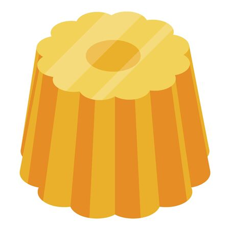 Apricot jelly icon. Isometric of apricot jelly vector icon for web design isolated on white background