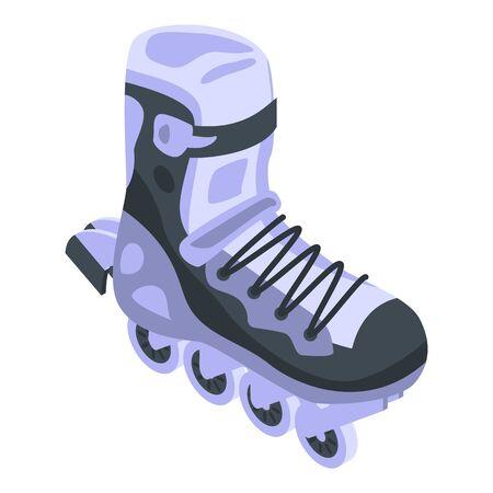 Activity inline skates icon, isometric style Illustration