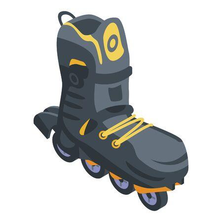 Safety inline skates icon, isometric style 일러스트