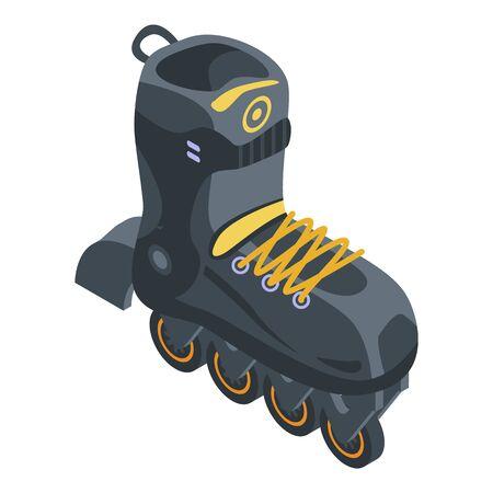 Sport inline skates icon, isometric style