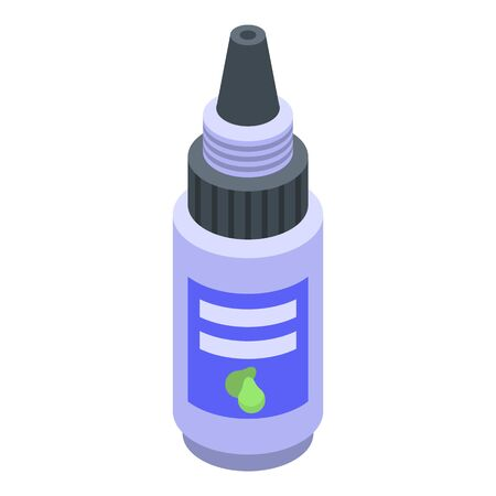 Soursop dropper icon. Isometric of soursop dropper vector icon for web design isolated on white background