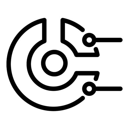 Business pie chart icon, outline style Ilustração