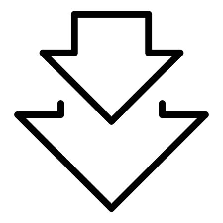 Regression arrows icon, outline style