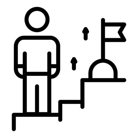 Target life skill icon, outline style