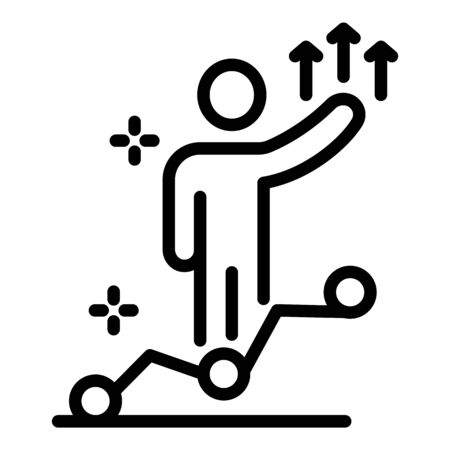 Self work progress icon, outline style Çizim