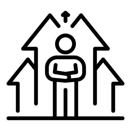 Developer life skill icon, outline style