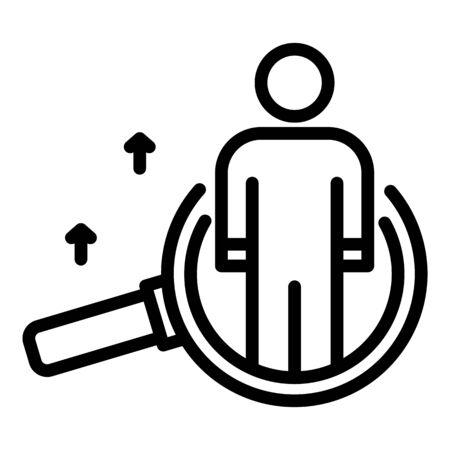 Office hr manager skill icon, outline style