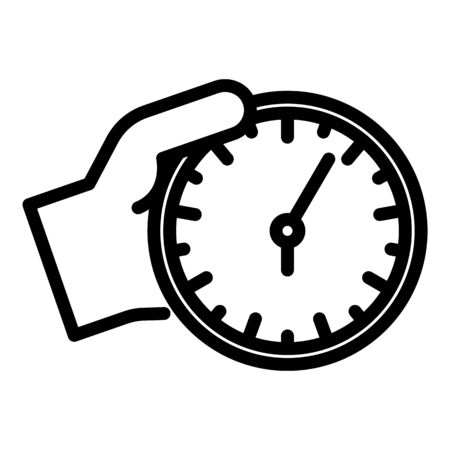 Take wall clock icon, outline style
