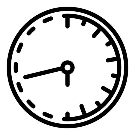 Classic wall clock repair icon, outline style Vectores
