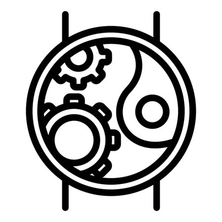 Mechanic construction hand watch icon, outline style