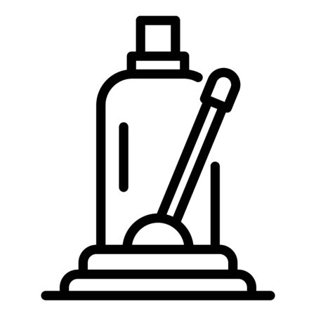 Hydraulic car jack icon, outline style