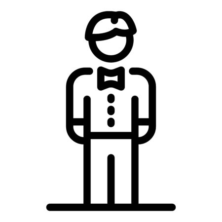 Groom icon, outline style