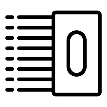 Tiler tool icon, outline style