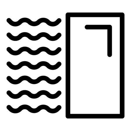 Apartment tiler icon, outline style