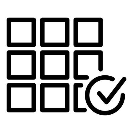 Tiler work done icon, outline style Illustration