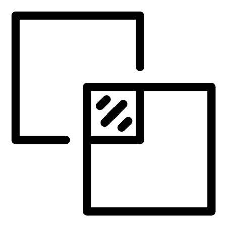 Ceramic tiler icon, outline style