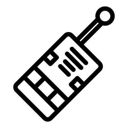 Walkie talkie channel icon, outline style Illustration