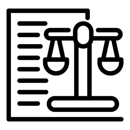 Responsibility balance icon, outline style