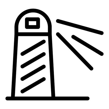 Lighthouse icon, outline style