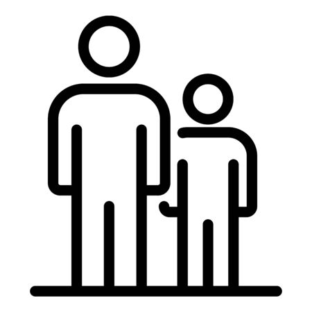 Family responsibility icon, outline style
