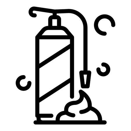 Polyurethane foam bottle icon. Outline polyurethane foam bottle vector icon for web design isolated on white background