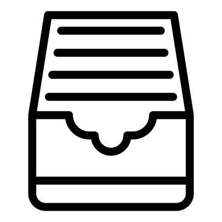 Explore folders icon, outline style
